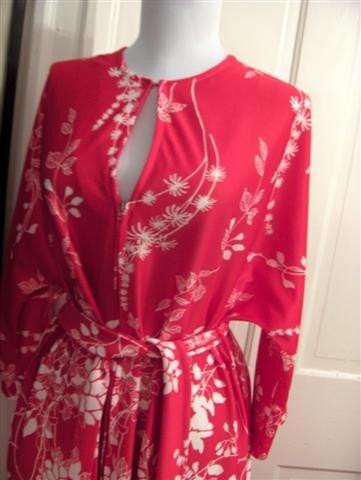 1970s Floral Maxi/housecoat/robe/kimono