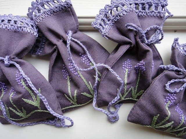 Handmade Pure Linen  Lavender Sachets Bags potpourri - BalticSea