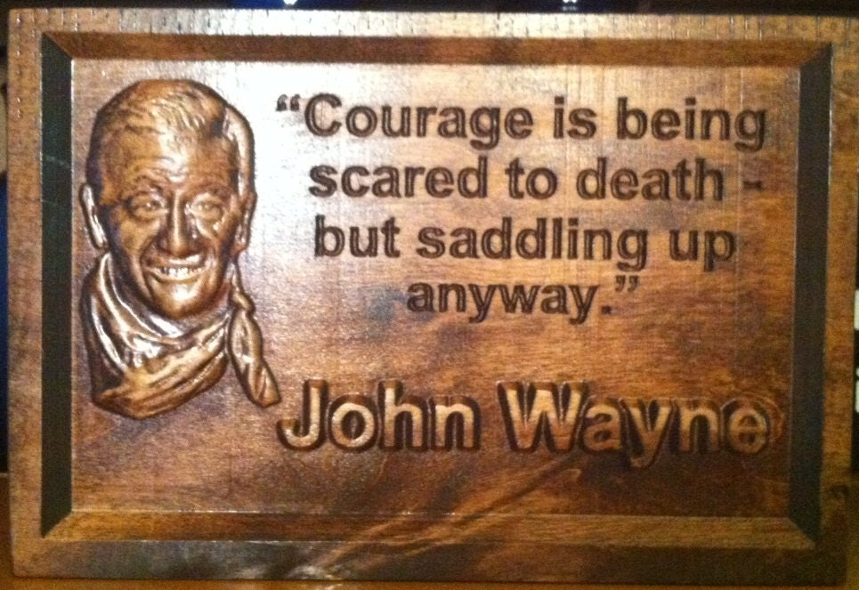 Wood carved relief sign john wane by liltradingpost on etsy