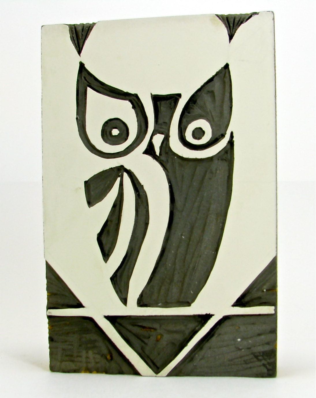 Vintage Linocut Owl for Printmaking - OliveandFrances