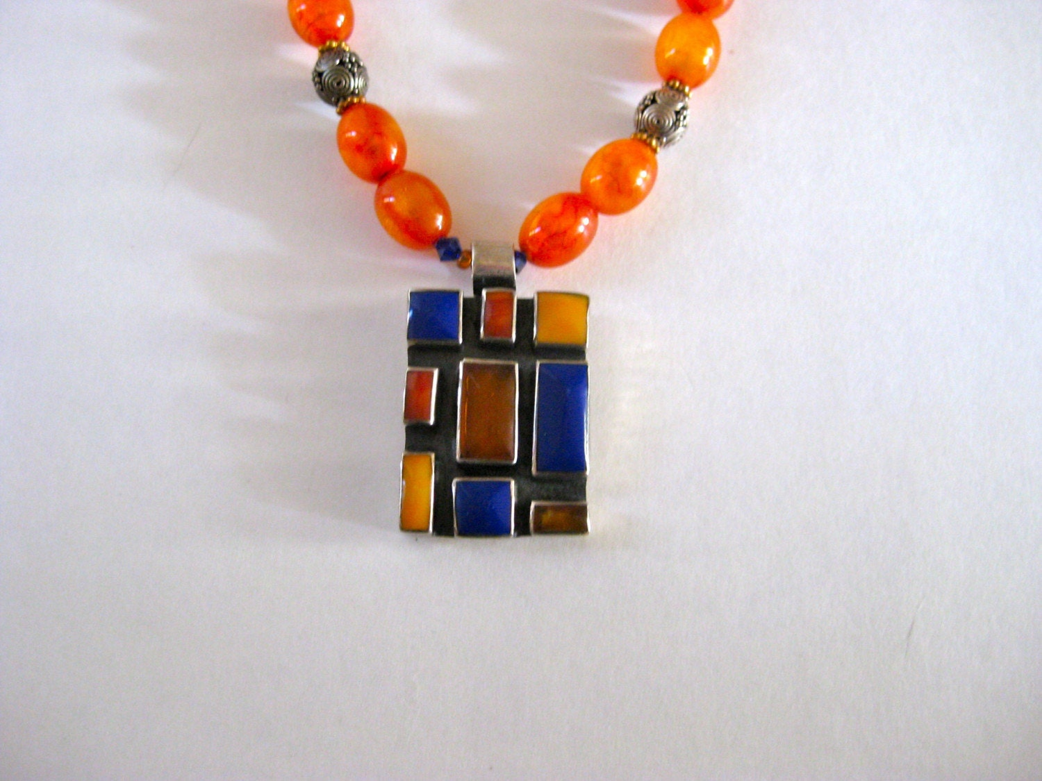 Coral and Lapis Necklace by my aunt Linda