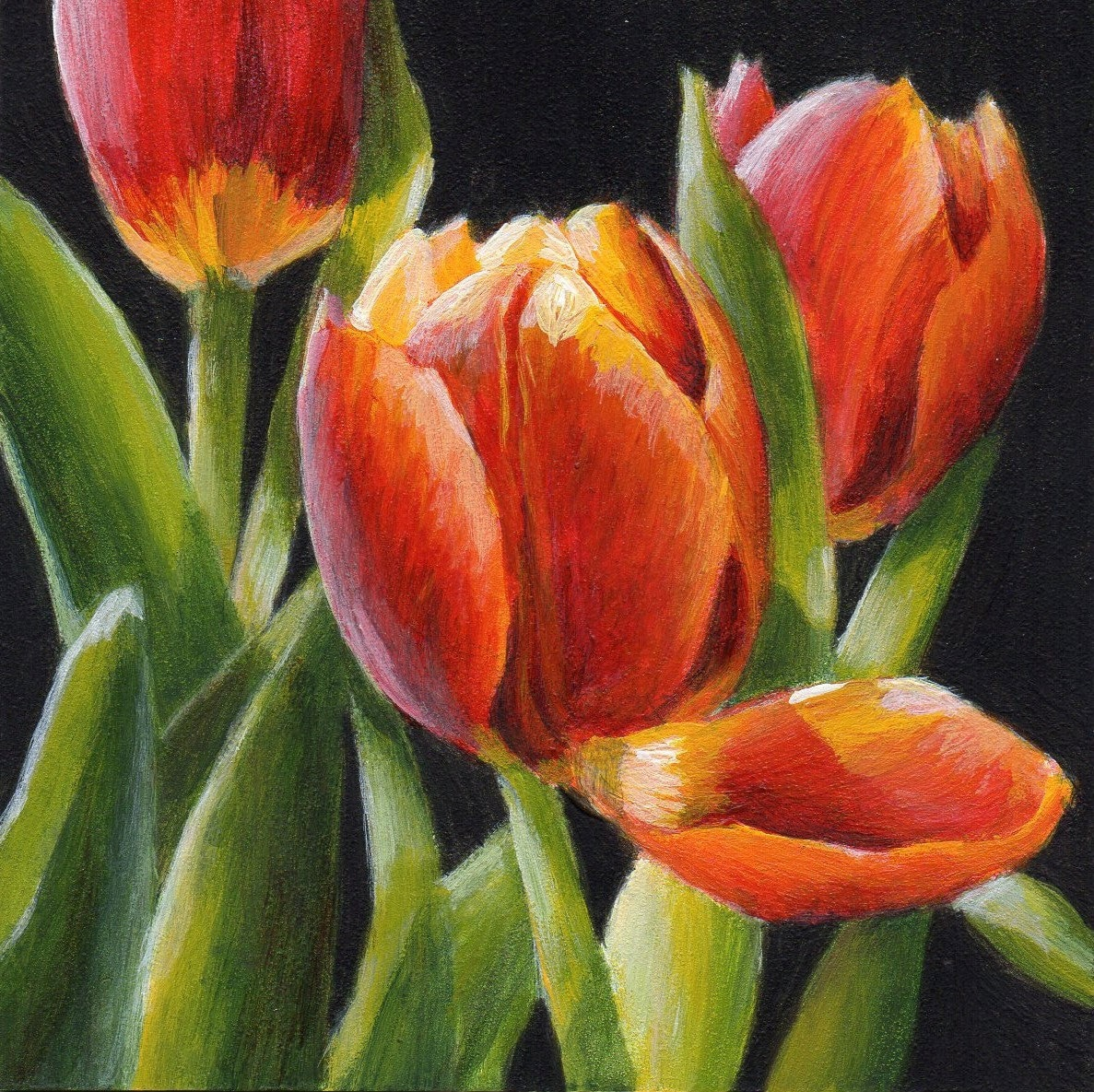 Acrylic painting flowers the image kid for How to paint flowers with acrylics on canvas