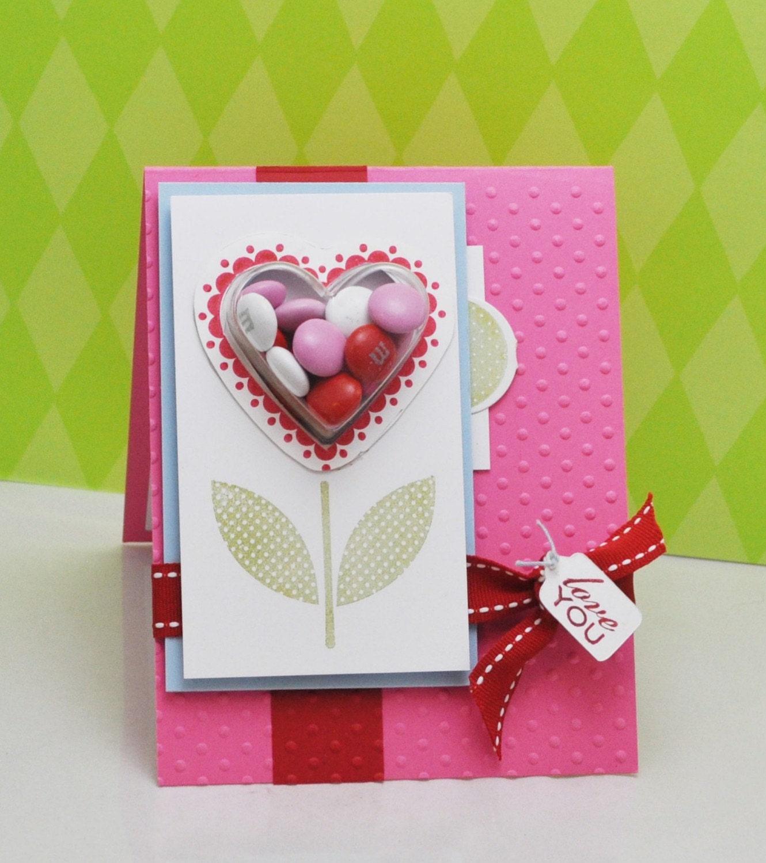 Heart Flower Candy Card