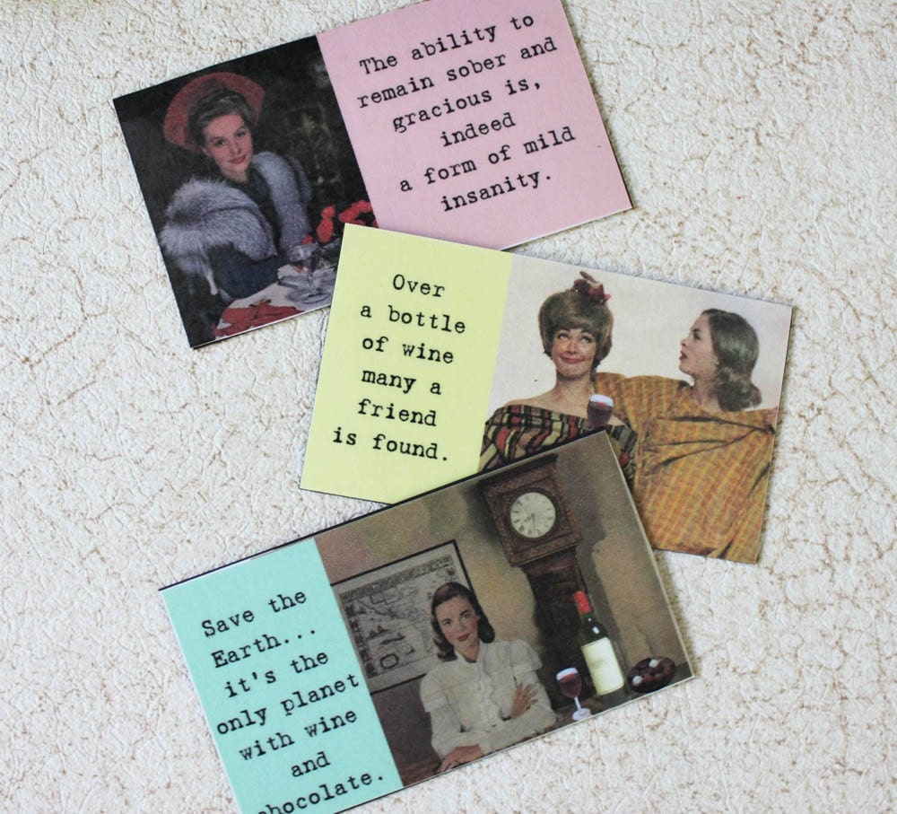 WINE THEME MAGNETS SET TWO choose any 3