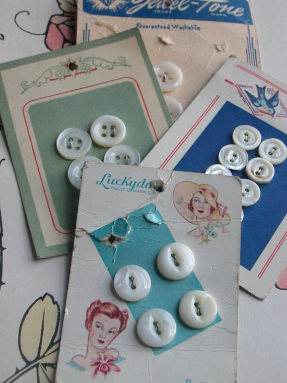 Vintage button card collection