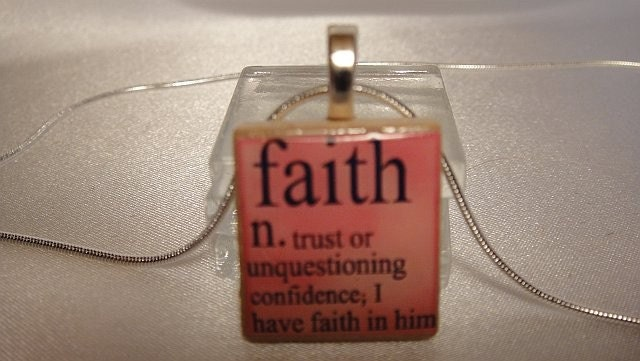 Faith Scrabble Tile Pendant Necklace