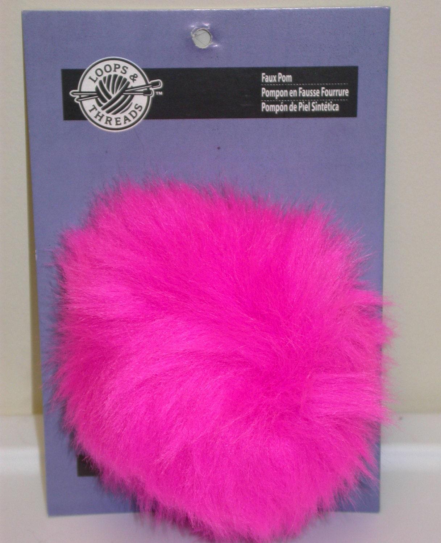 Fun Fur Pompoms Pom Poms Hot Pink Faux Fur Fluffy By