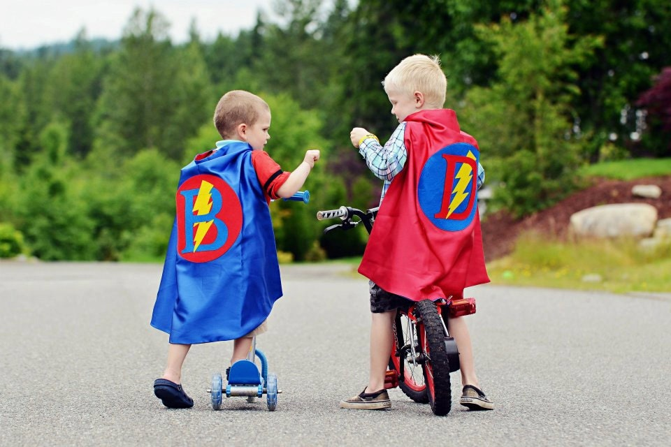 Superhero Cape PERSONALIZED Waldorf Gift - Boy Birthday present by pip and bean gift - pipandbean