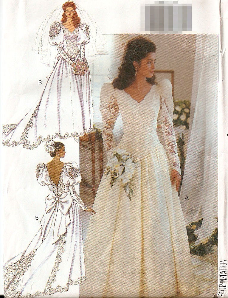Etsy your place to buy and sell all things handmade Butterick wedding dress patterns