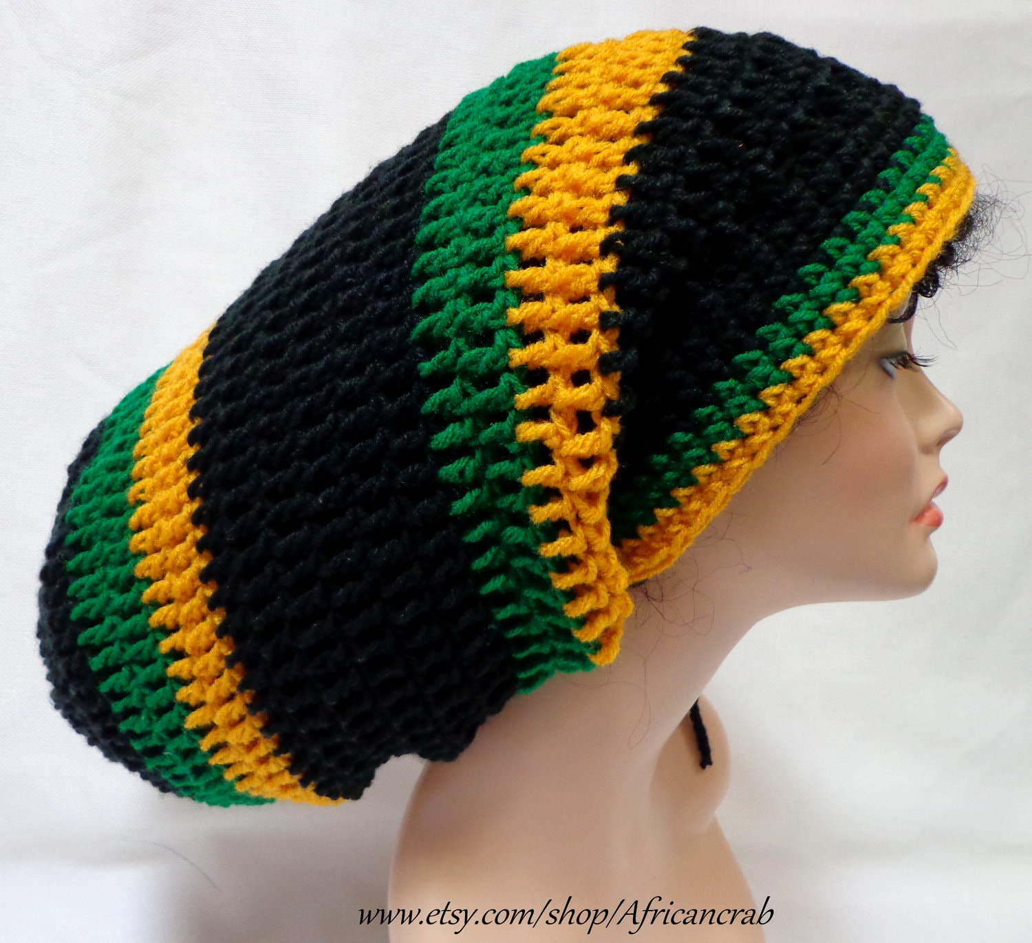 Free Crochet Pattern For Rasta Hat : Crochet Mega Rasta Tam. Jamaican Dreadlocks Tam. by ...