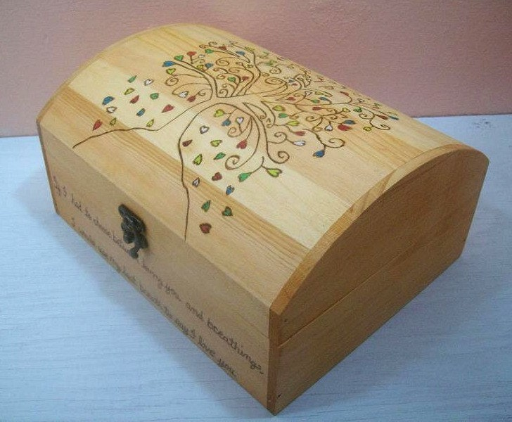 Wooden Wedding Gift Card Box : Items similar to Small Wood Burned Wedding Gift Card Box on Etsy