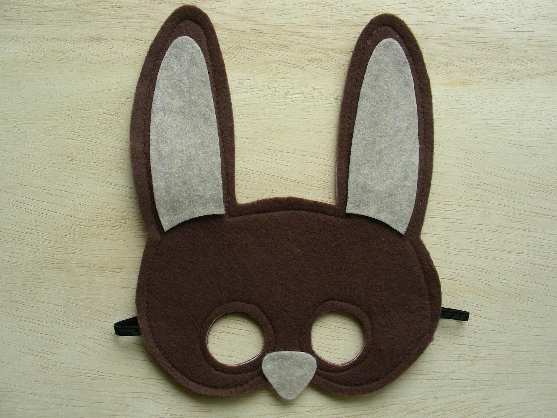 Brown Rabbit Child Mask