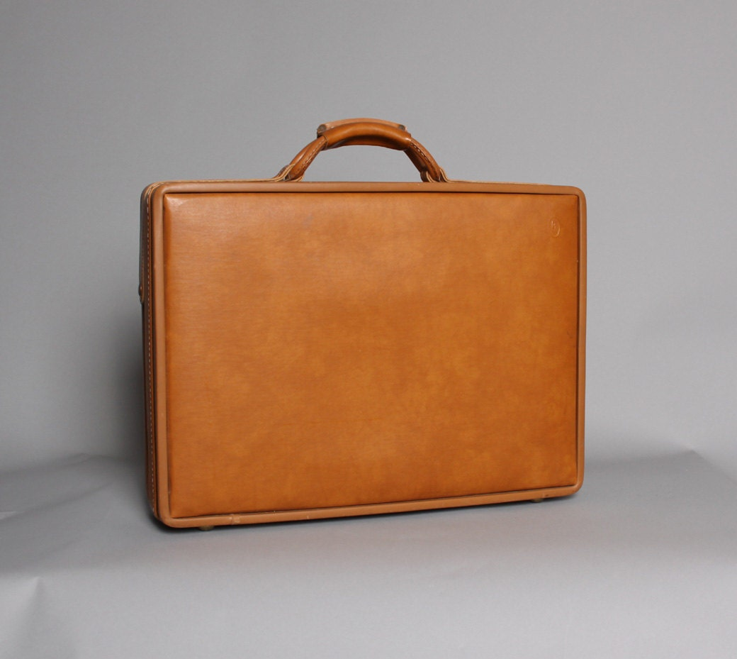 vintage hartmann belting leather briefcase by toughluckvintage