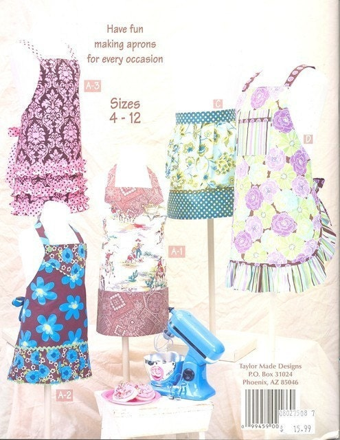 Little Retro Aprons for Kids - Taylor Made Designs - Make it YOU - Cindy Taylor Oates - Pattern Book
