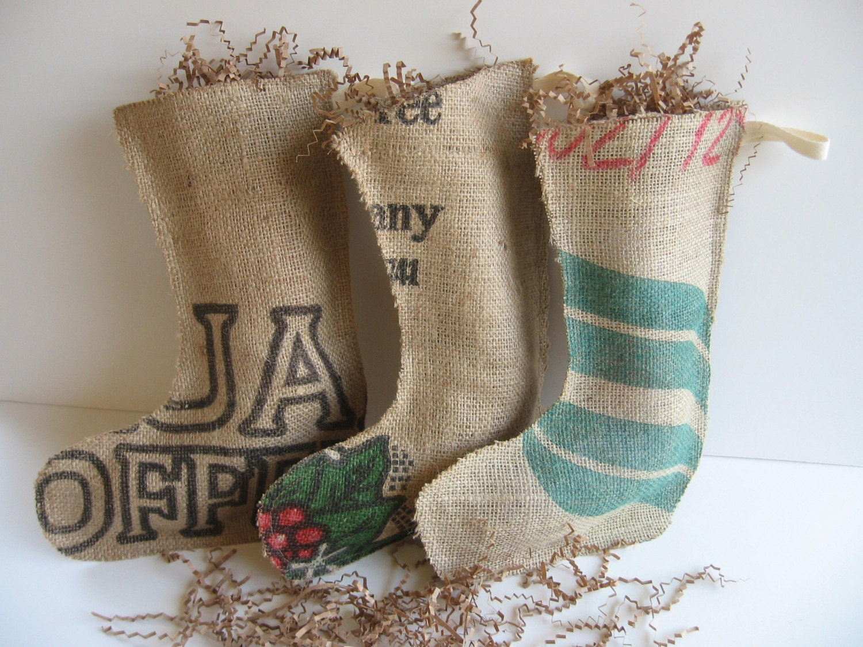 Eco Holiday Stockings - Set of Three