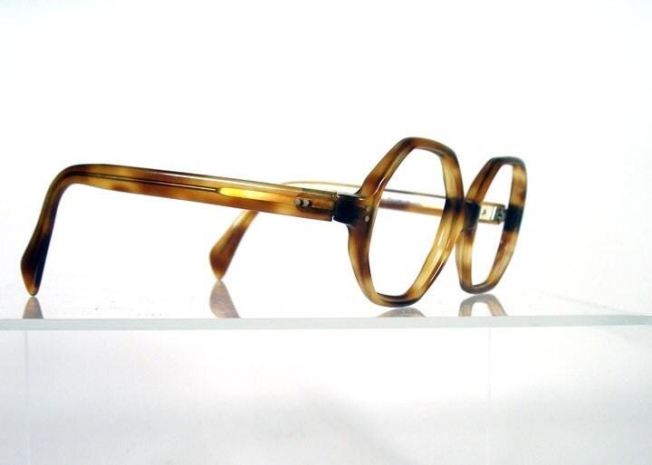 Vintage 1960s SELECTA Tortoise Octagon Shaped Frames