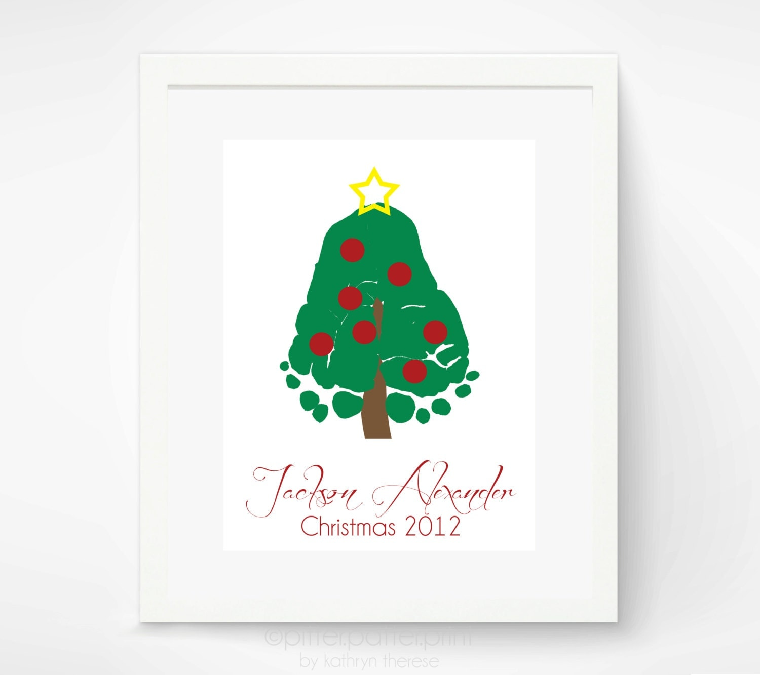 baby 39 s first christmas art print baby by pitterpatterprint