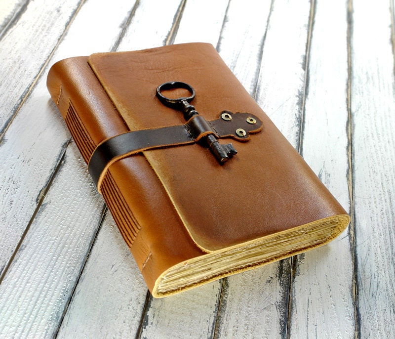 Old Leather Journal With Key Unavailable Listing on...