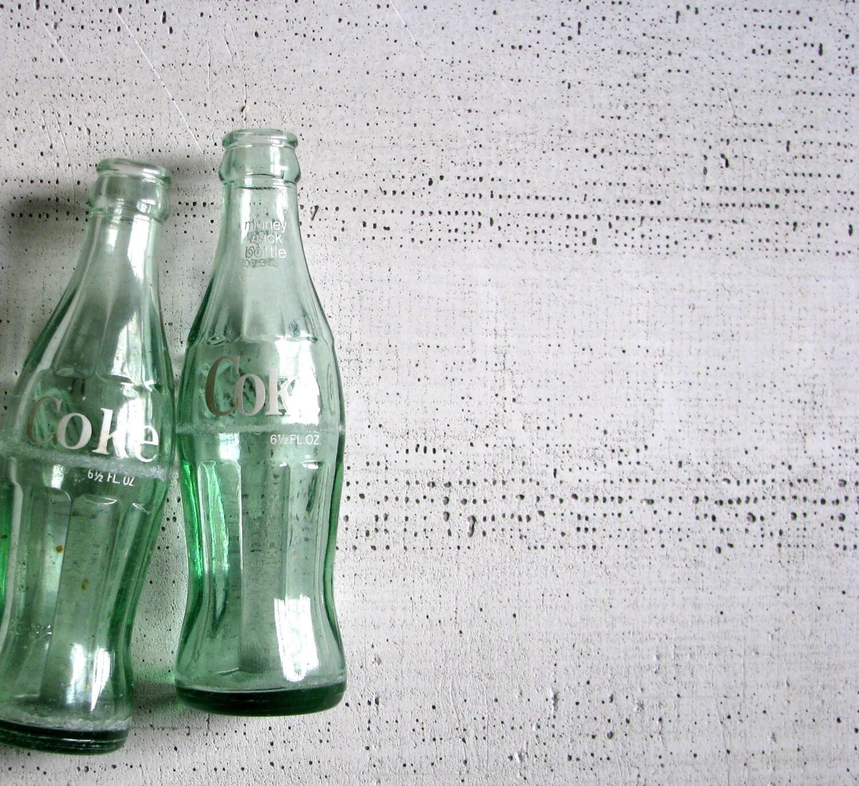 coke bottles - farmhouse style vase or decor - tribute212