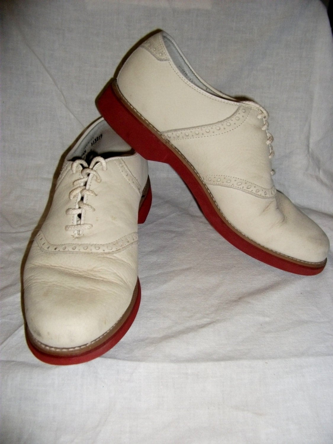 vintage s leather saddle oxford shoes by by susoriginals