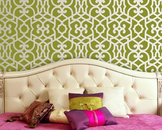 Moroccan Trellis Wall Stencil Pattern Chez Sheik Allover Moroccan Stencil for Exotic Modern Wall Decor
