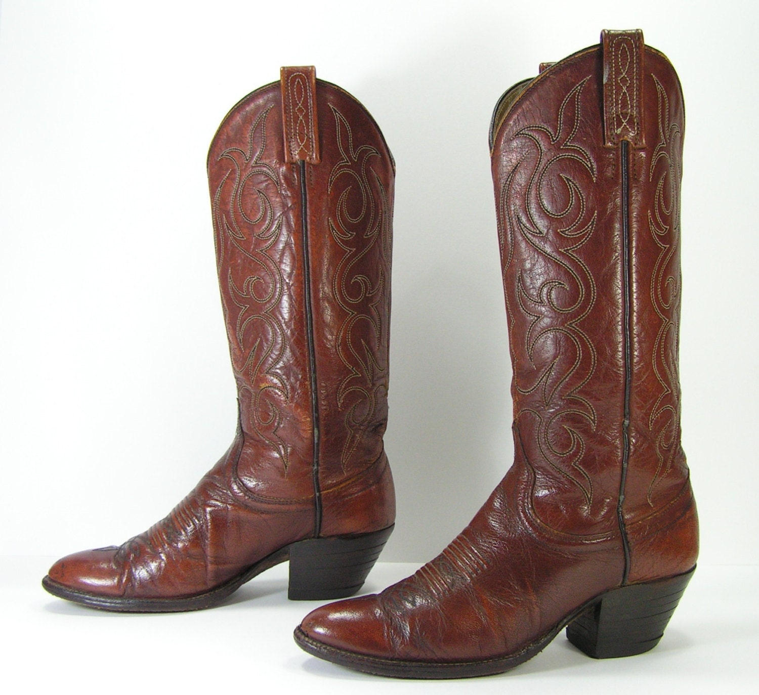 cowboy boots womens 6 c wide brown western by