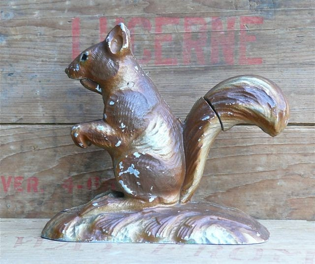 Vintage Metal Squirrel Nutcracker By Birchandbird On Etsy