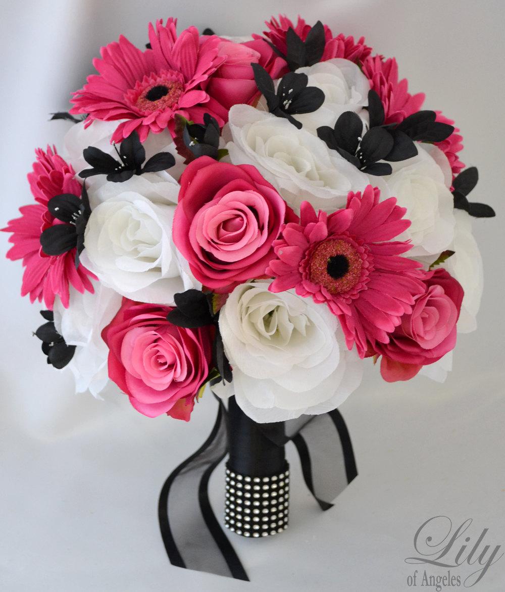 17pcs Wedding Bridal Bouquet Silk Flower By LilyOfAngeles On Etsy