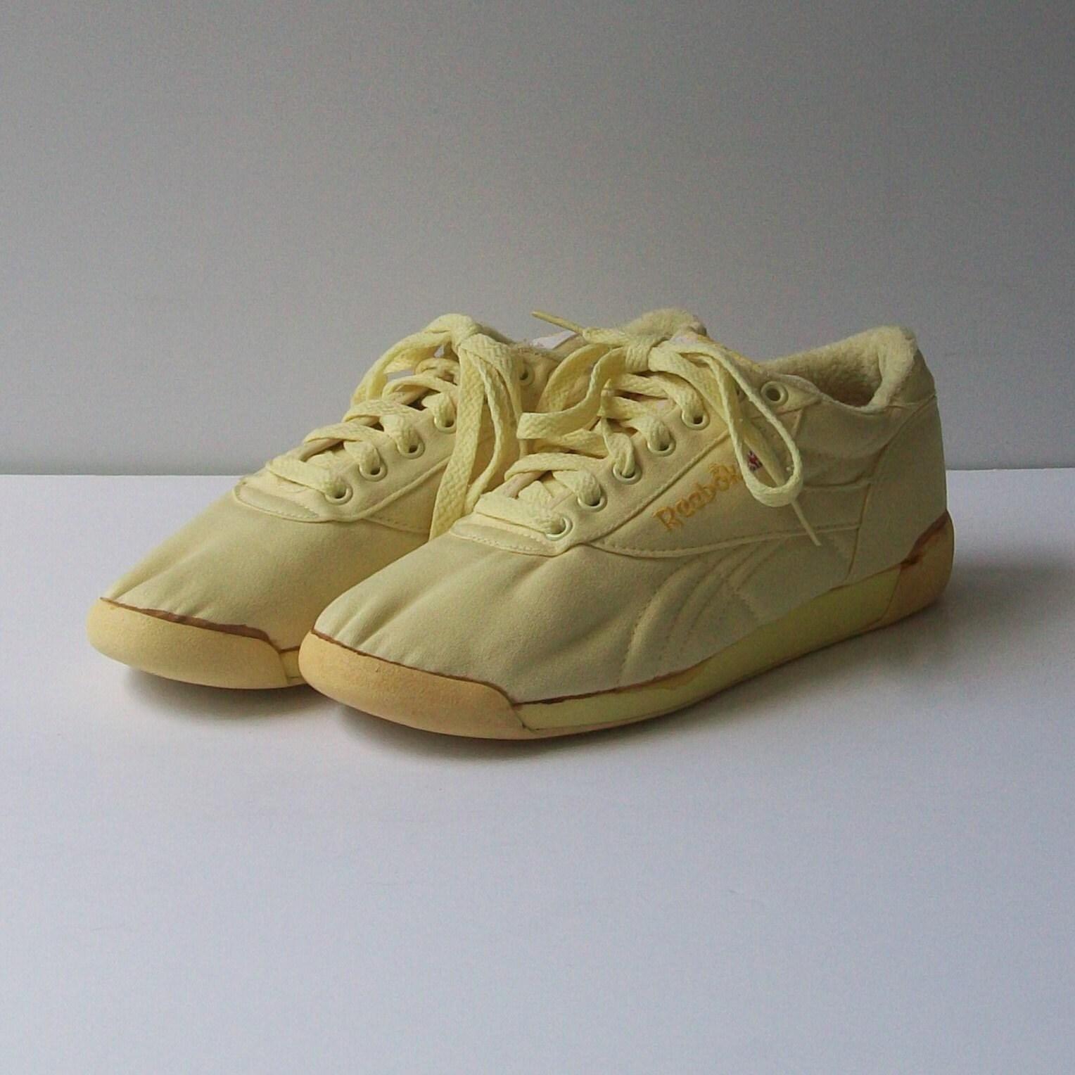 Vintage 80s LEMON Reebok Aerobic Tennis Shoes Size 7.5