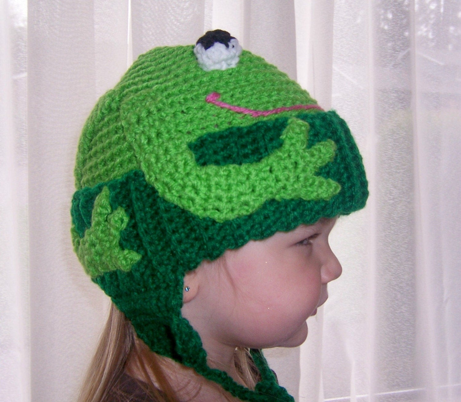 Frog Hat in All sizes The Mouth Color is Now Red Unless you request Pink