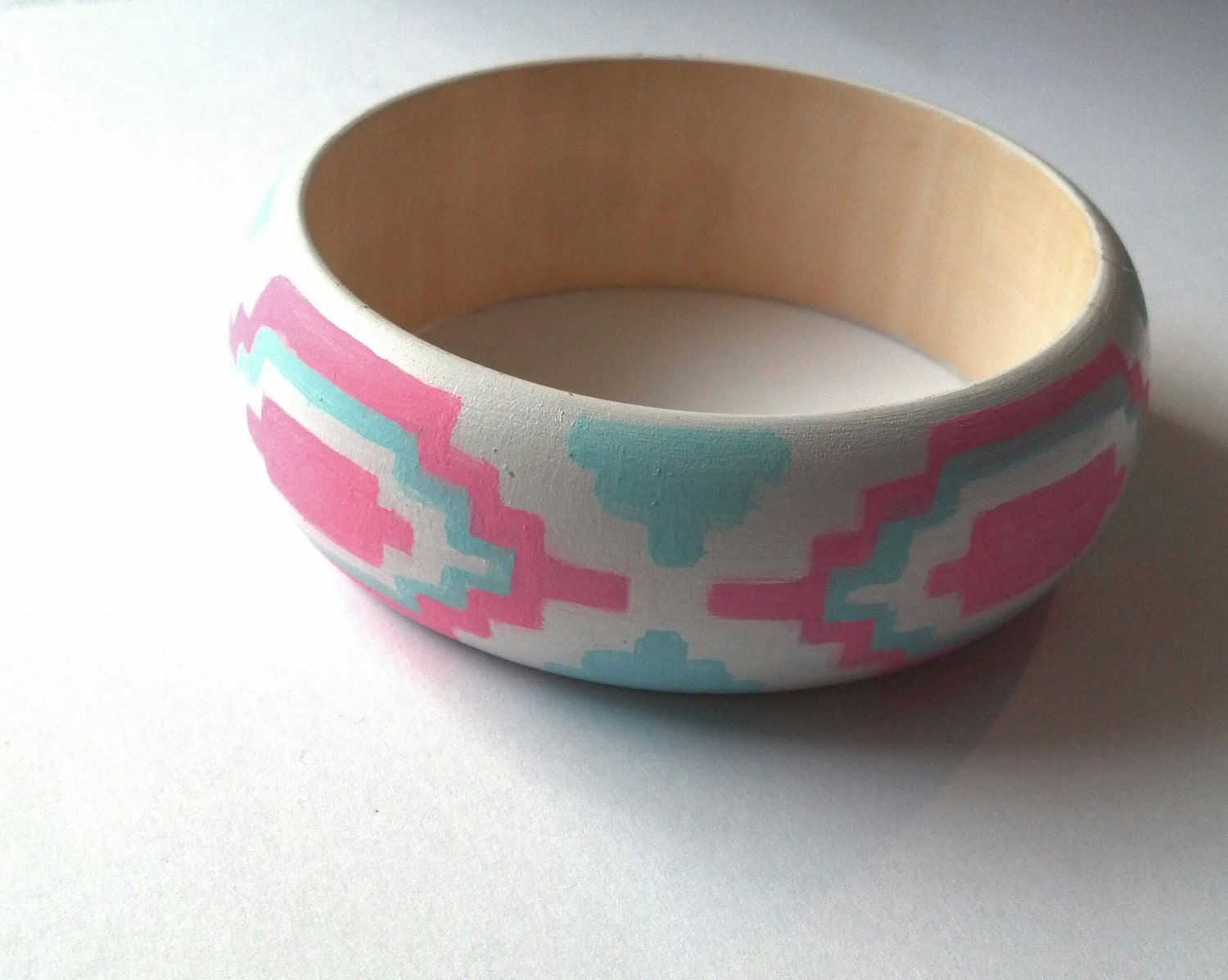 Electric Aztec // Wooden Bangle