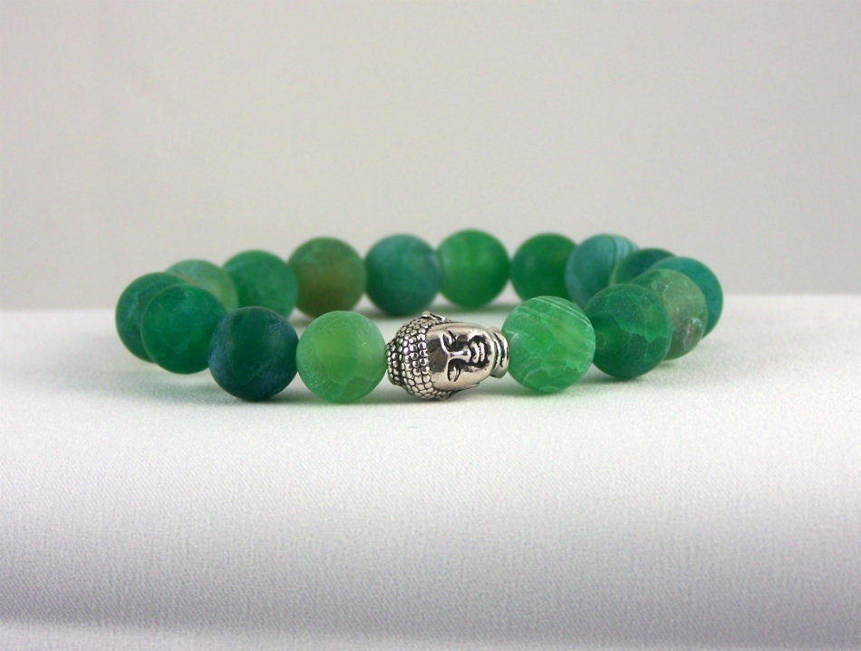 Agate Buddha Bracelet, Spiritual Bracelet, Unique Gift Ideas, Free Shipping