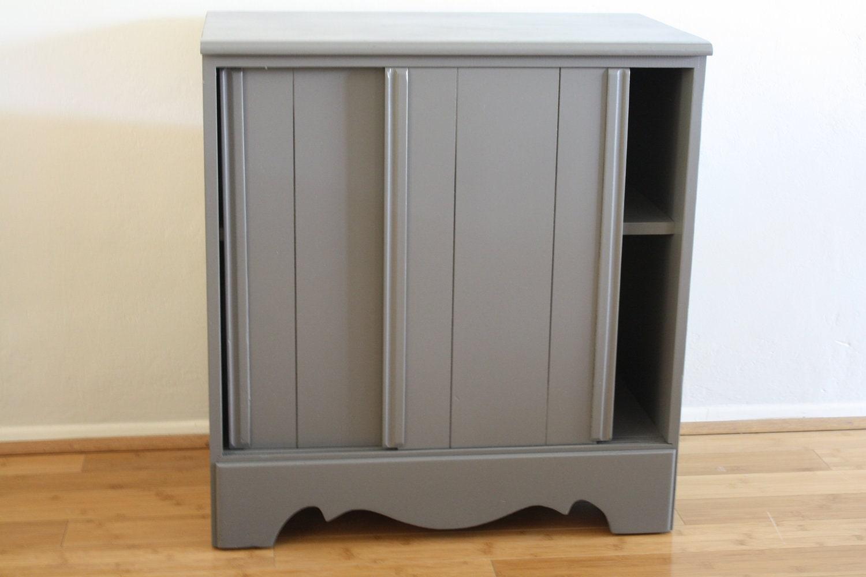 Sliding Grey Cabinet