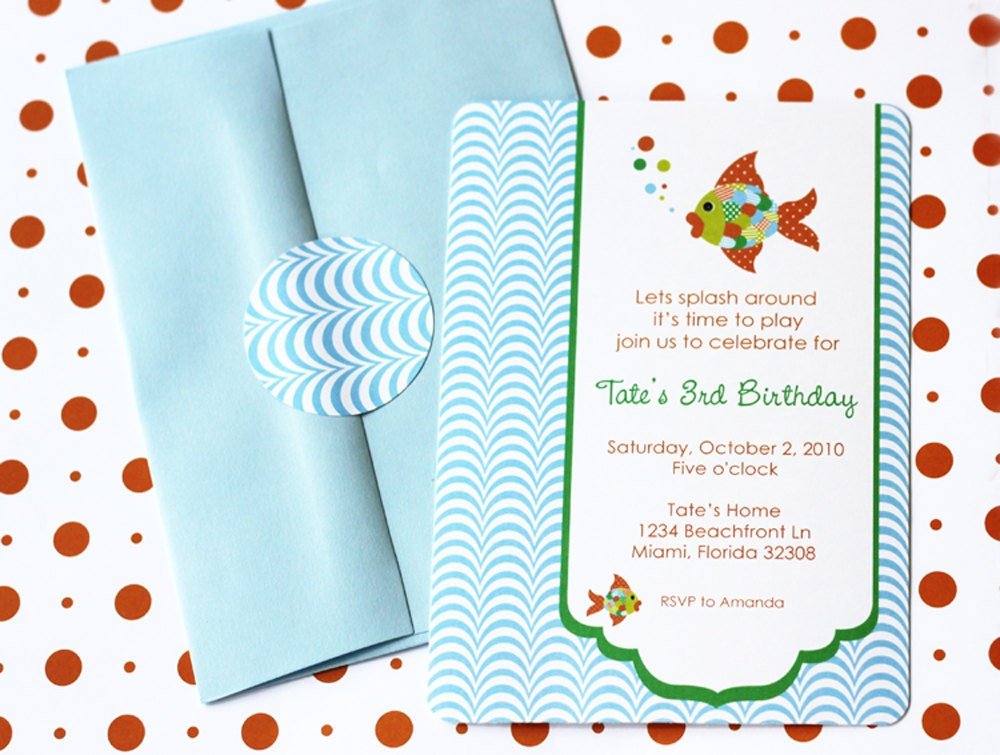 Under the Sea Fish Printable Party Invite