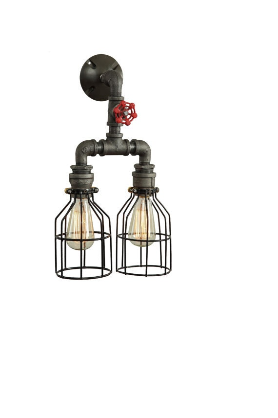 Industrial lighting sconces bathroom vanity