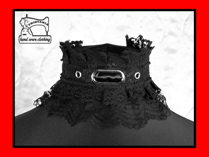 gothic cyber goth queen of darkness choker collar necklace necktie cosplay lolita victorian renaissance steampunk corset japan style  0340