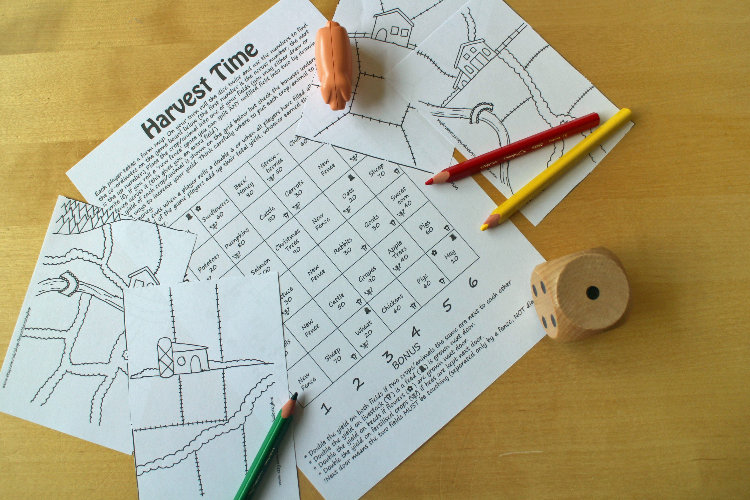 Harvest Time Printable Game  Farm Game  Maths Game  Childrens Games