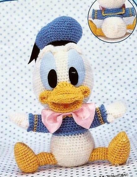 Amigurumi Disney Patronen : Baby Donald Duck amigurumi haak patroon van Kapteinhaak op ...