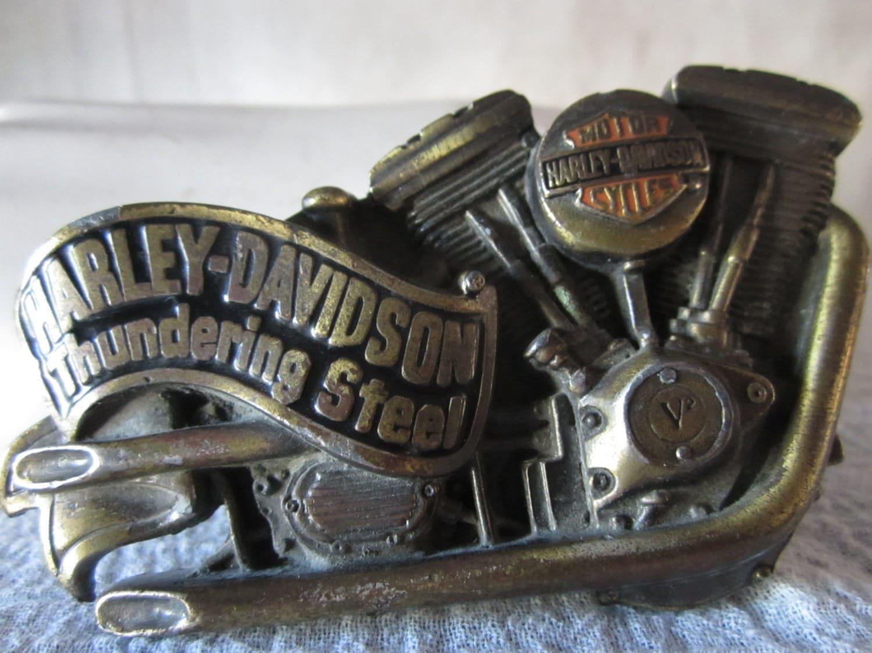 Harley Davidson Belt Bucklethundering Steel By Shabbylull