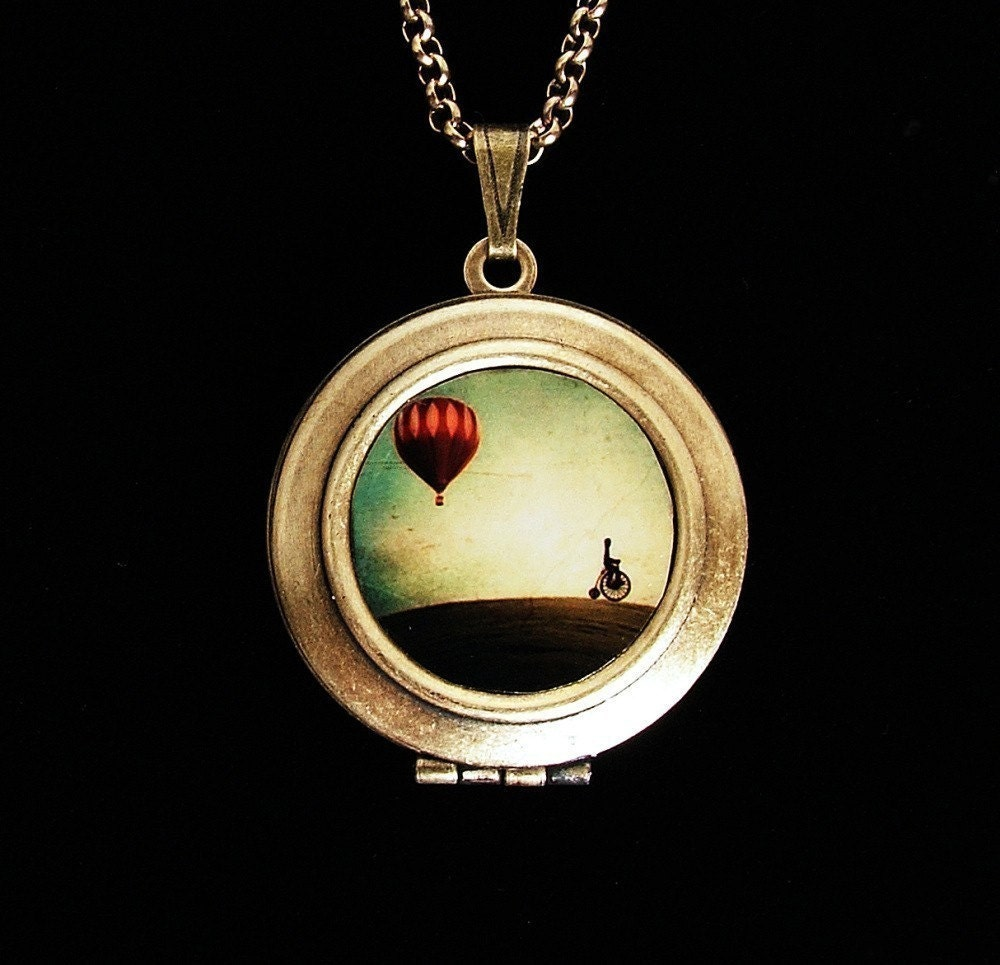 Penny Farthing - Art Locket Necklace