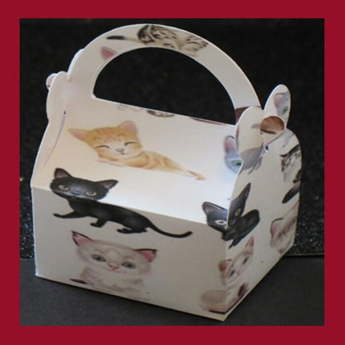 Cat Favor Box Kitty Party Favor Box Pet Favor Box By