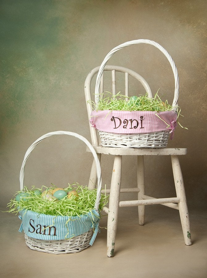 Personalized Easter Basket, monogrammed