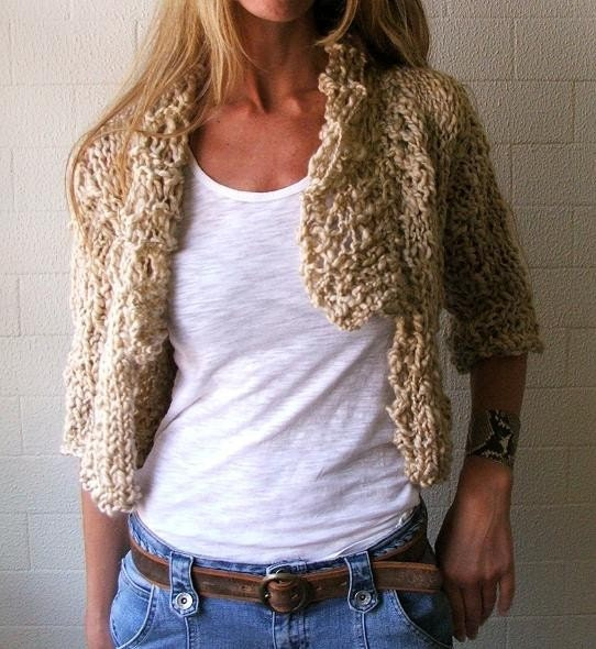 A moment 2 myself  GOLD chunky cardigan