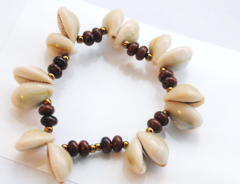 Jasper Cowrie Shell Bracelet , Gemstone Cowrie Shell Bracelet - ZenCustomJewelry