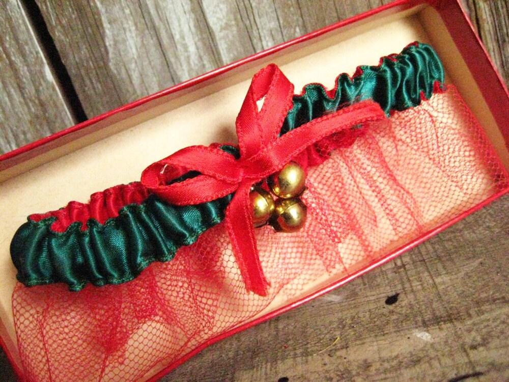 Santa's Comin' Down the Chimney Tonight - Christmas Garter