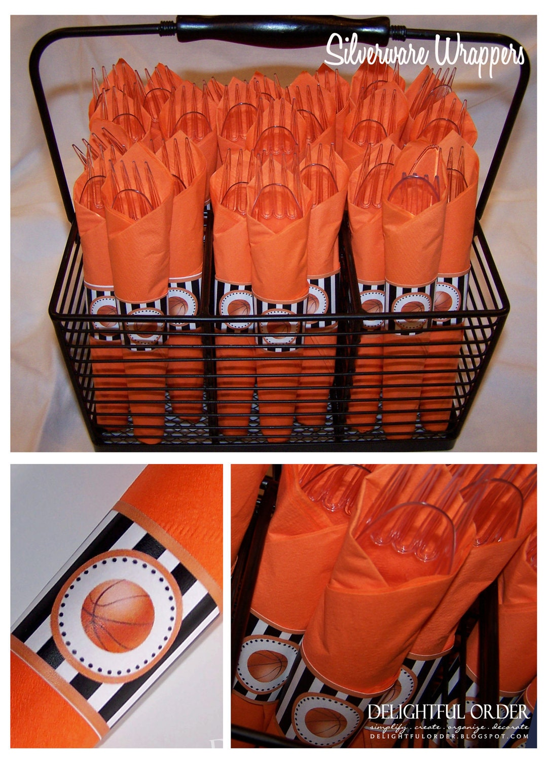 Delightful order boy basketball theme birthday party for Basketball craft party ideas