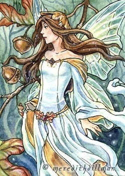 Oak Fairy ACEO - limited edition print