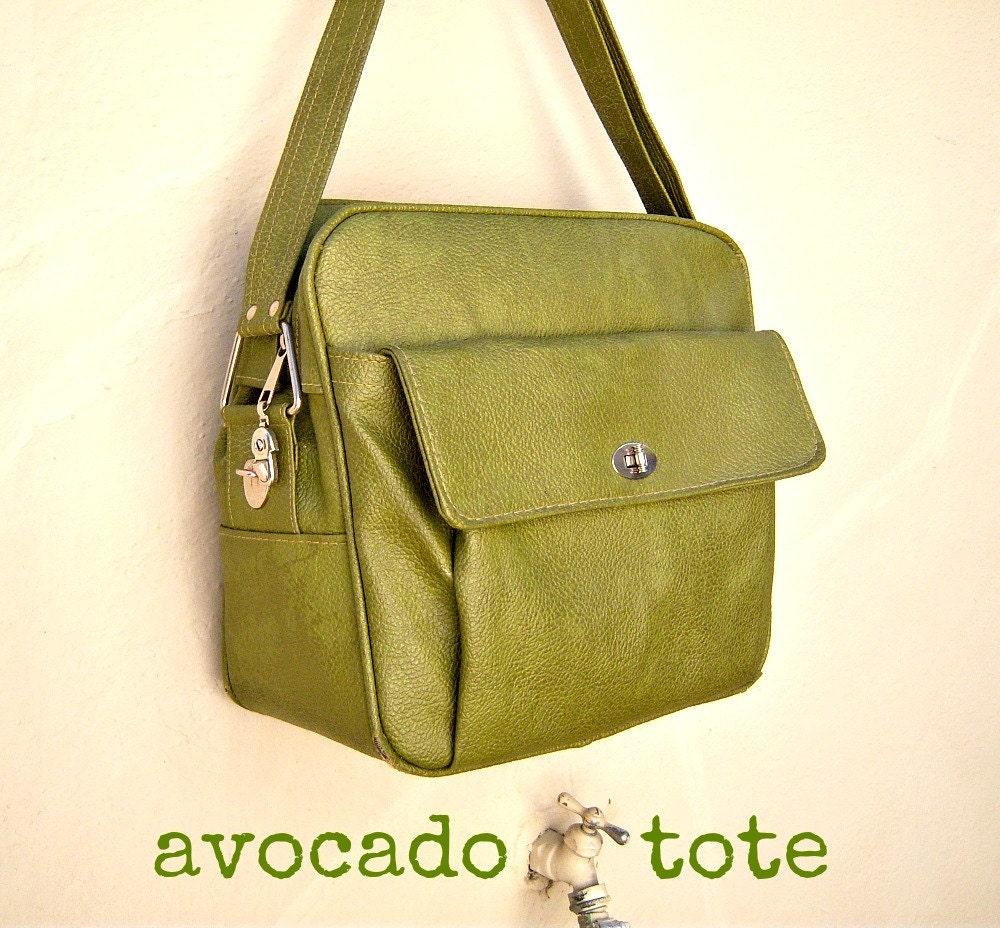 sage avocado tote