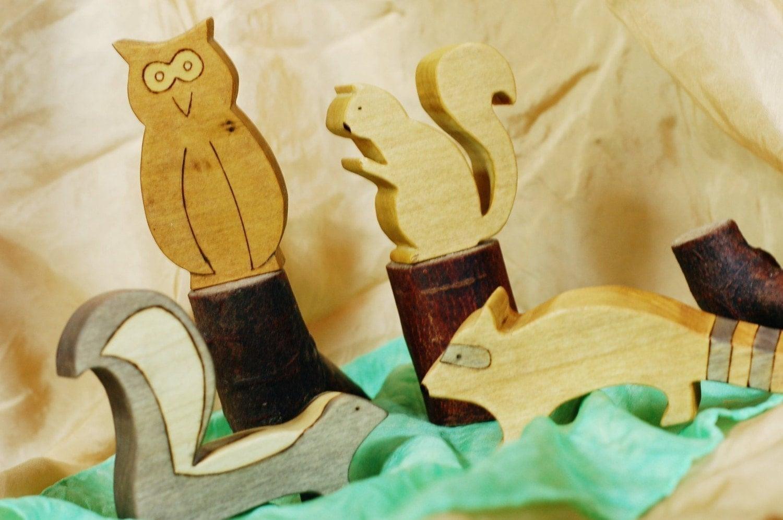 Wood toy animals - Woodland set of 4