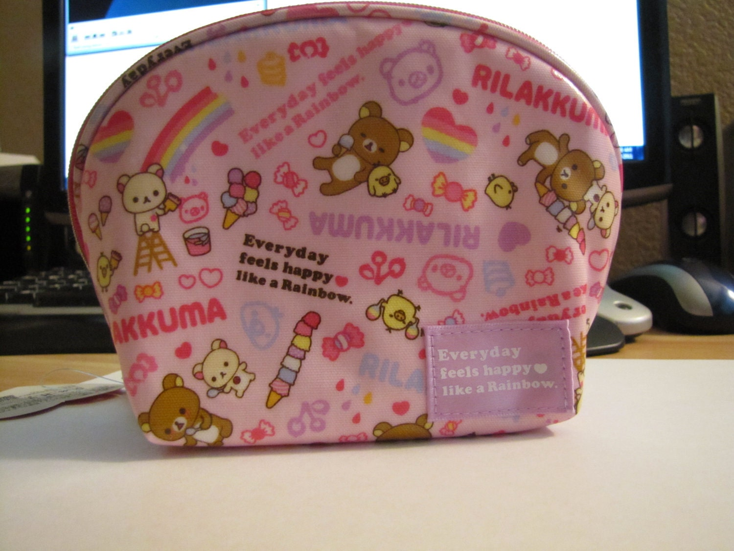 San-x Rilakkuma kawaii accessory makeup pouch